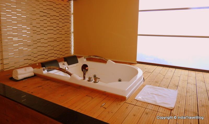 Bubble bath in Jacuzzi