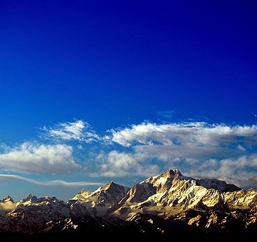 A view of the Himalayas in Chopta