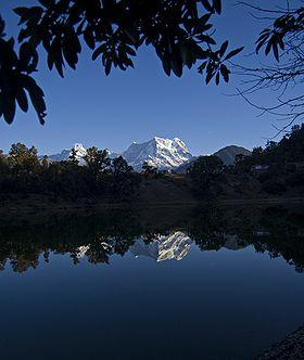Reflection of the Himalayan Peak in the Deorital