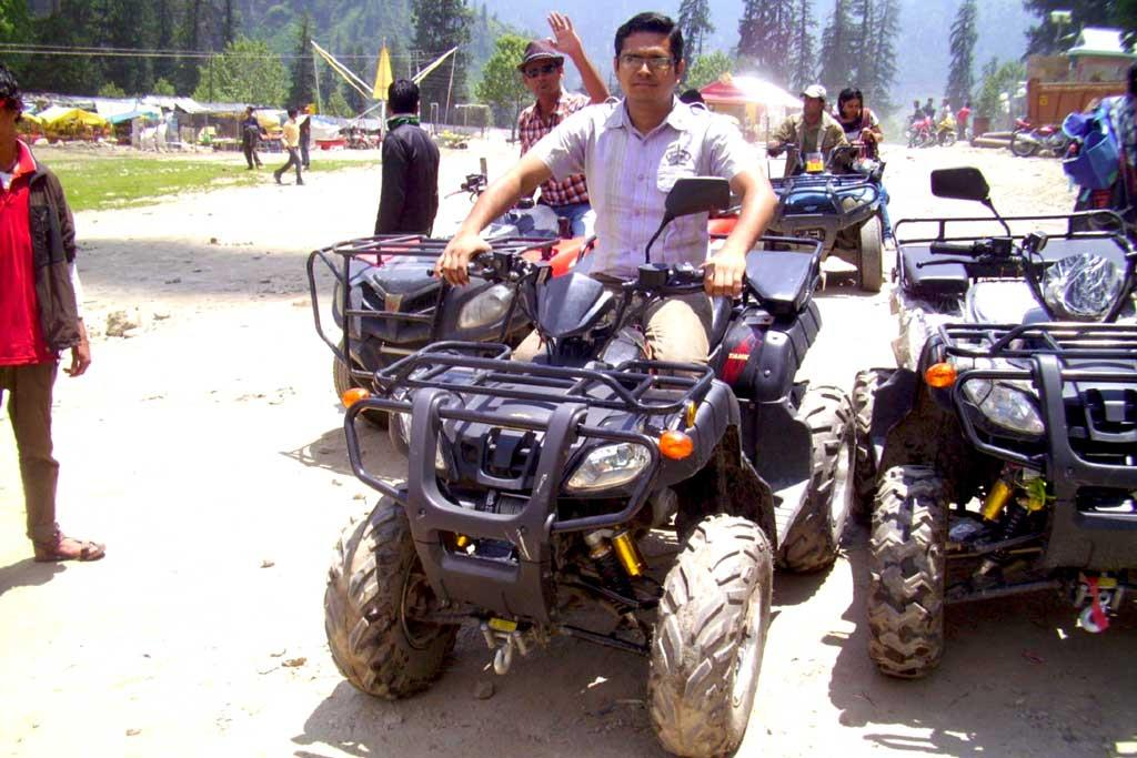 adventure sports experience in solang valley