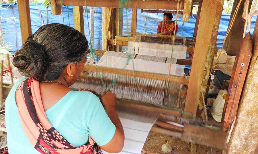 Handloom weaving unit