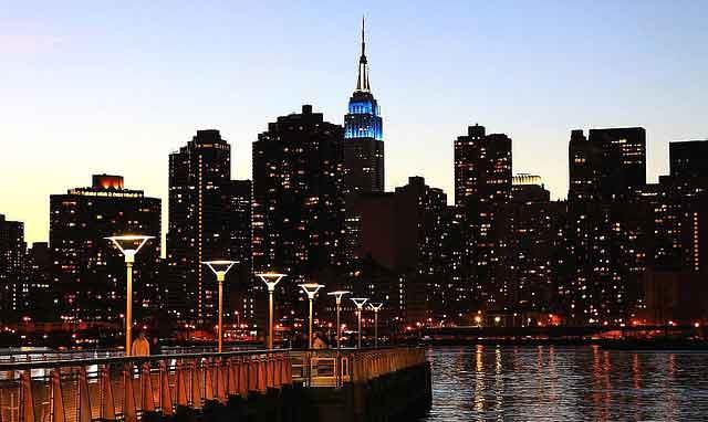 New Year eve celebration New York