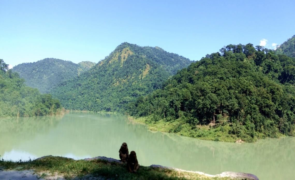 Goecha la trek day1 Beautiful Teesta and serene mountains on our way to Yuksom