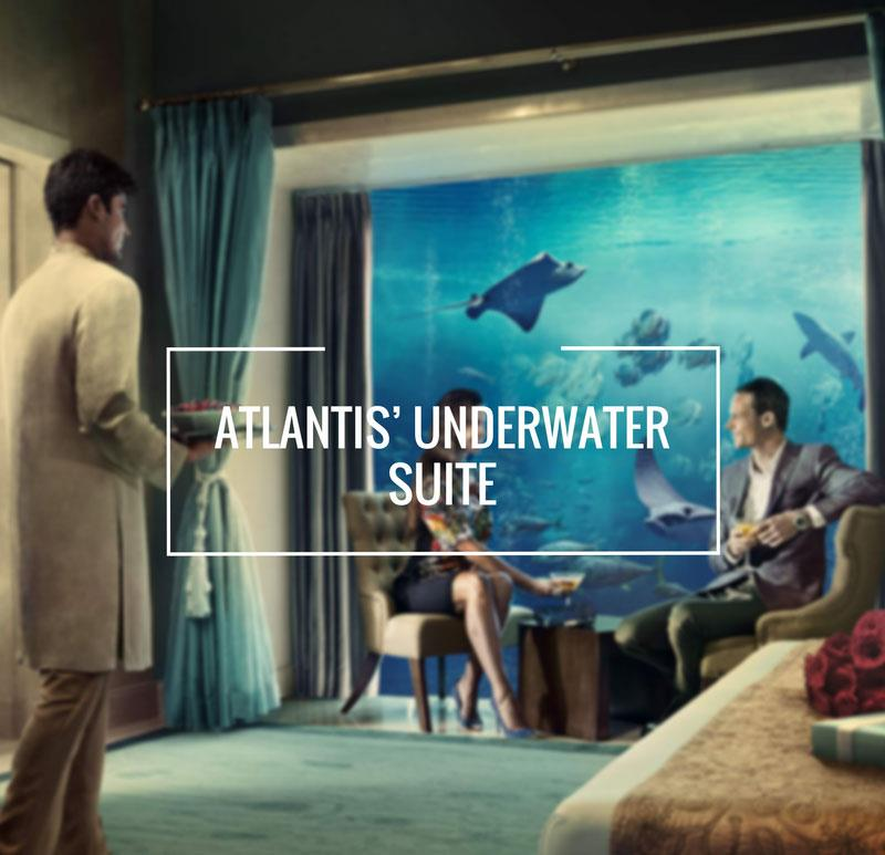 Attractions in Dubai Atlantis underwater suit