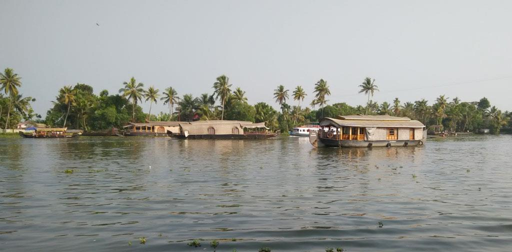 Alleppy backwaters in Kerala