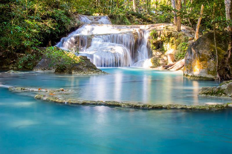Erawan Falls at Kanchanaburi Region