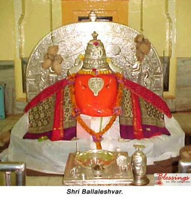 Idol of Ballaleshwar at Pali near Pune