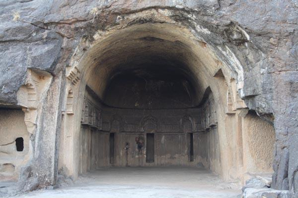 Another Hall with Rest rooms in Bedse Caves near Pune City