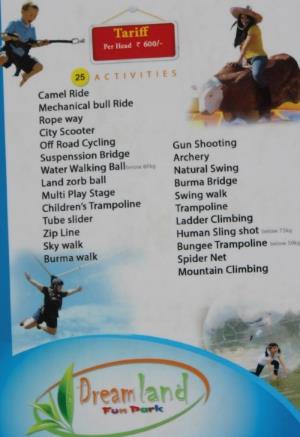 Activities at Dream Land, Munnar