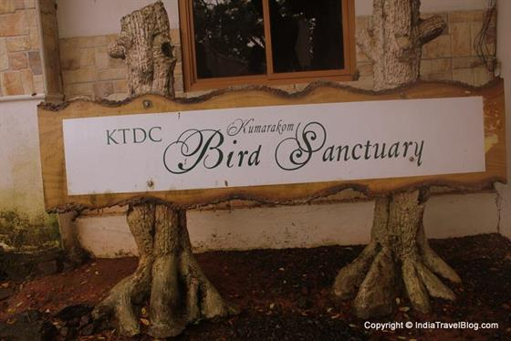 Kumarakom Bird Sanctuary - Welcome board
