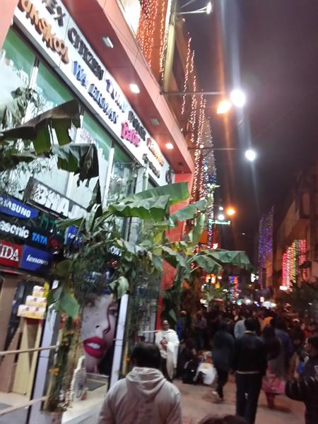 Night life in Police Bazar, Shillong