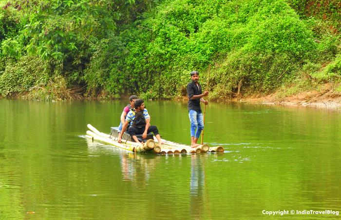 Explorers enjoying river rafting in Wayanad