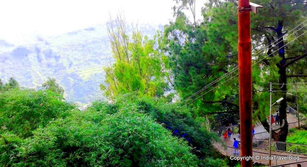 A view from the mountain of Mata Vaishno