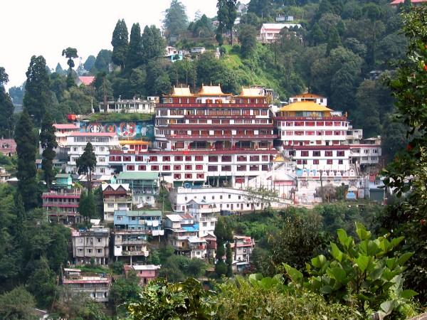 View of the Dali Monastery in Darjeeling