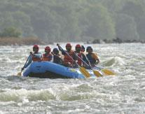 River rafting at Galibore fishing camp near Bengaluru