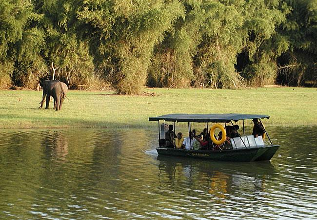 Boating in Kabini River