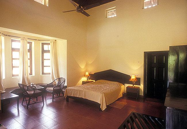 Inside a room at Kabini River Lodge