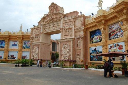Entrance of Innovative Film City theme park near Bengaluru