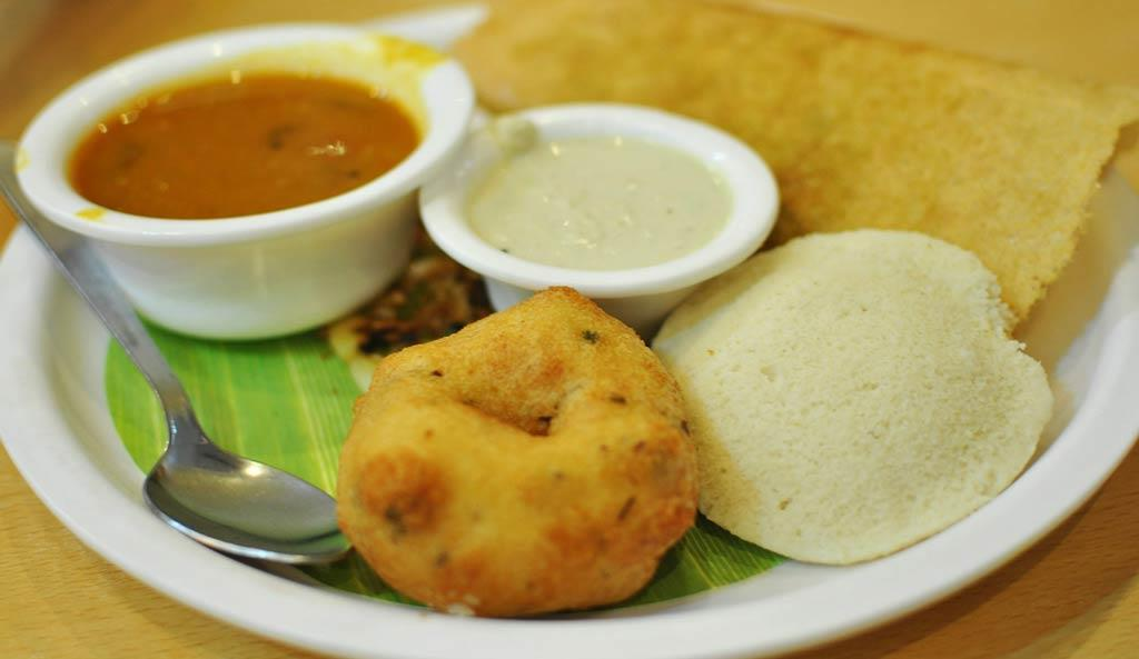 South indian food in a plate