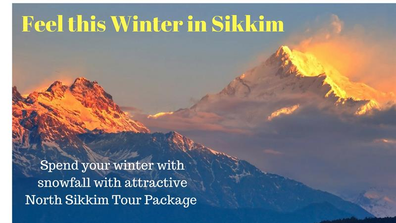 Feel this winter with sikkim