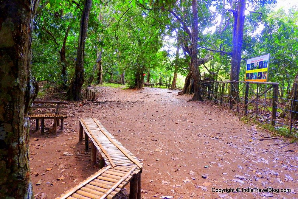 Seating where visitors can rest in Kuruva Island