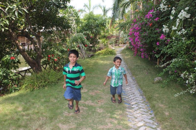 Kids running and playing at Country Club Kochi