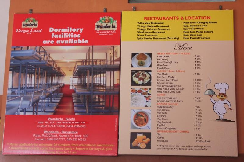Wonder La - Restaurant rates and Dormitory information