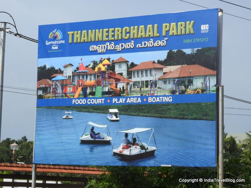 A sign board of Thanneerchal Park