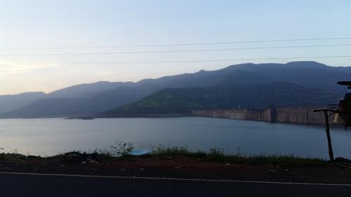 View of dam on the way to Lavassa