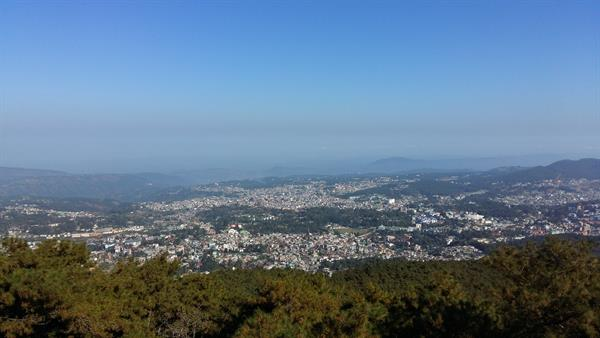 Shillong from the peak
