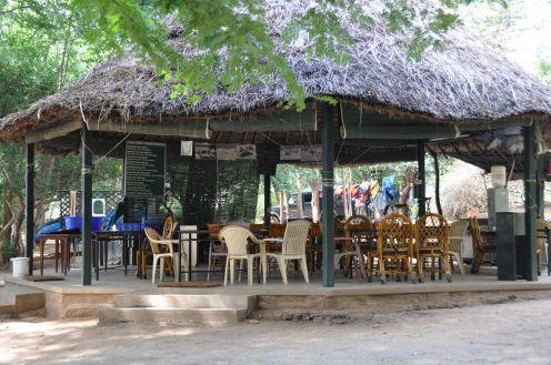 Dining area near Cauvery Fishing Camp